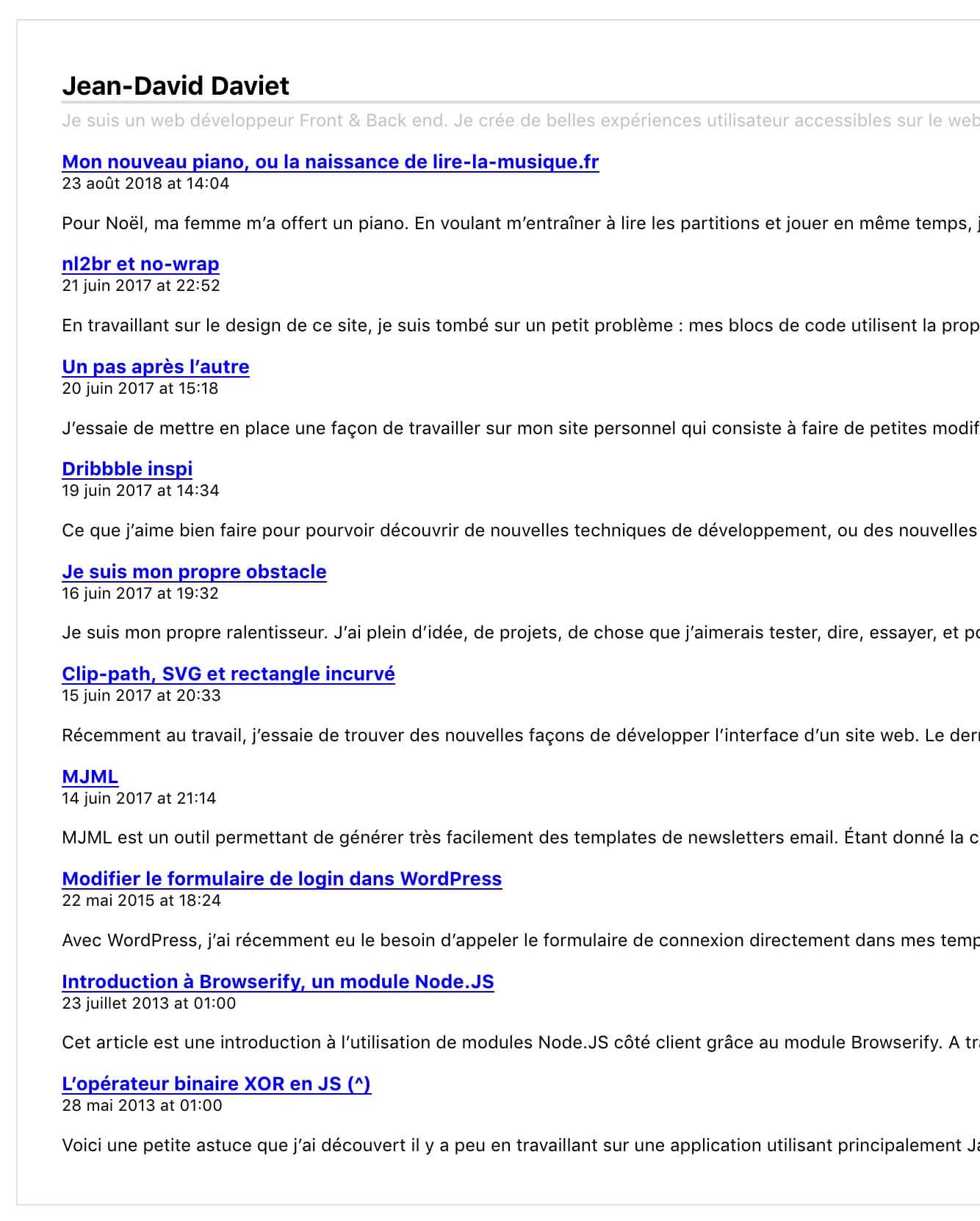 Flux RSS dans Firefox